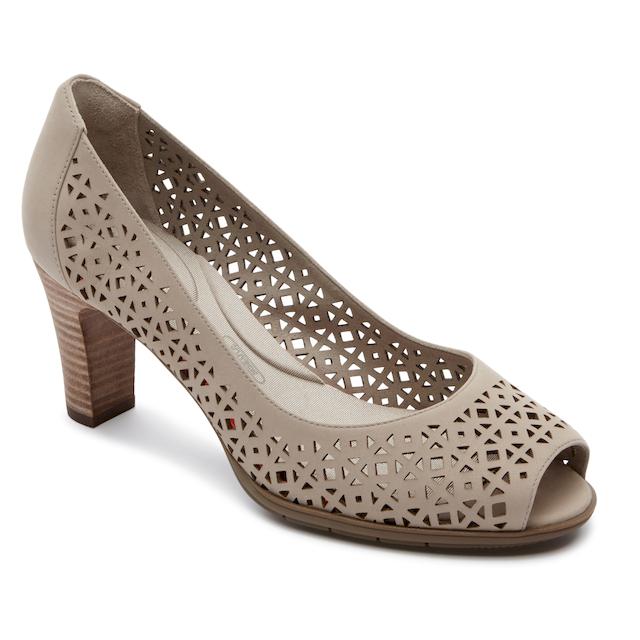 ROCKPORT特賣匯-全方位動能雷射雕花楔型鞋(女)-ROF82868SS17