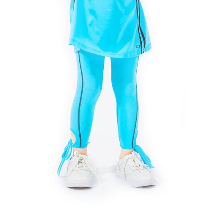 【HOII】綁帶7分 Legging 褲-兒童-藍