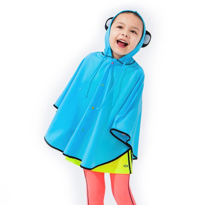 【HOII】熊貓造型斗篷-兒童-藍