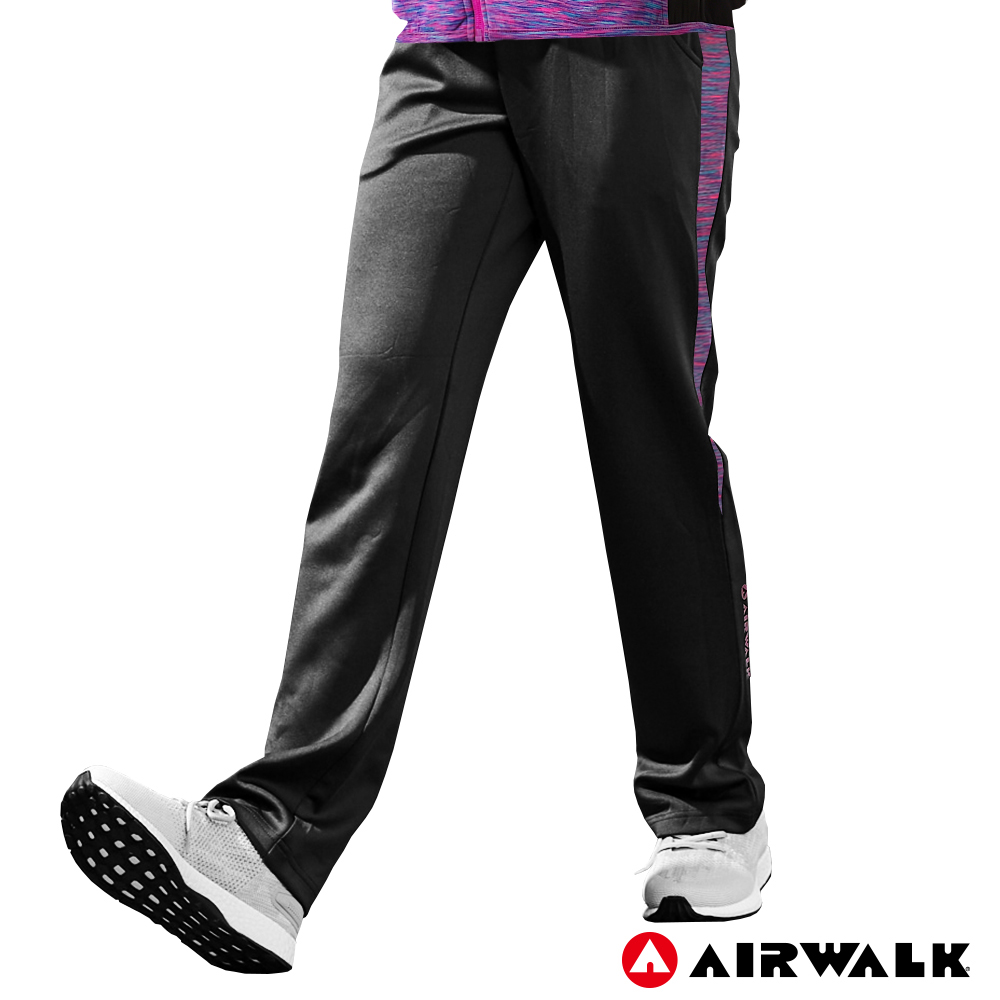 【AIRWALK】女款POLY針織長褲-黑色