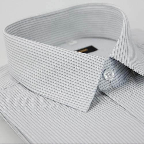 【金安德森】灰色條紋吸排長袖襯衫