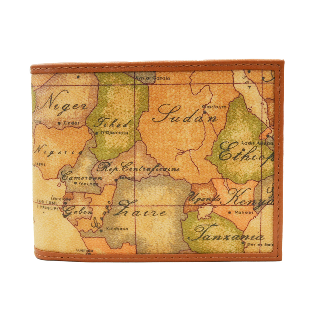Alviero Martini 義大利地圖包 經典8雙夾層時尚短夾