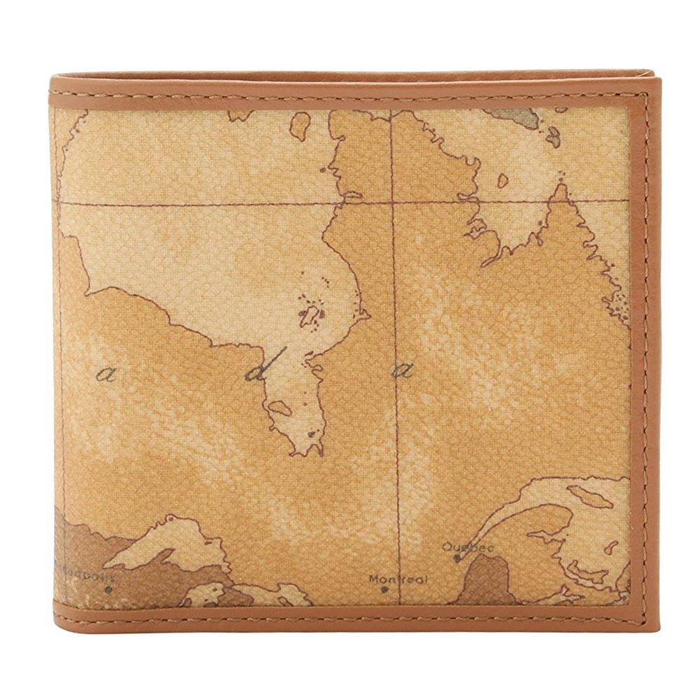 Alviero Martini 義大利地圖包 經典4卡時尚短夾