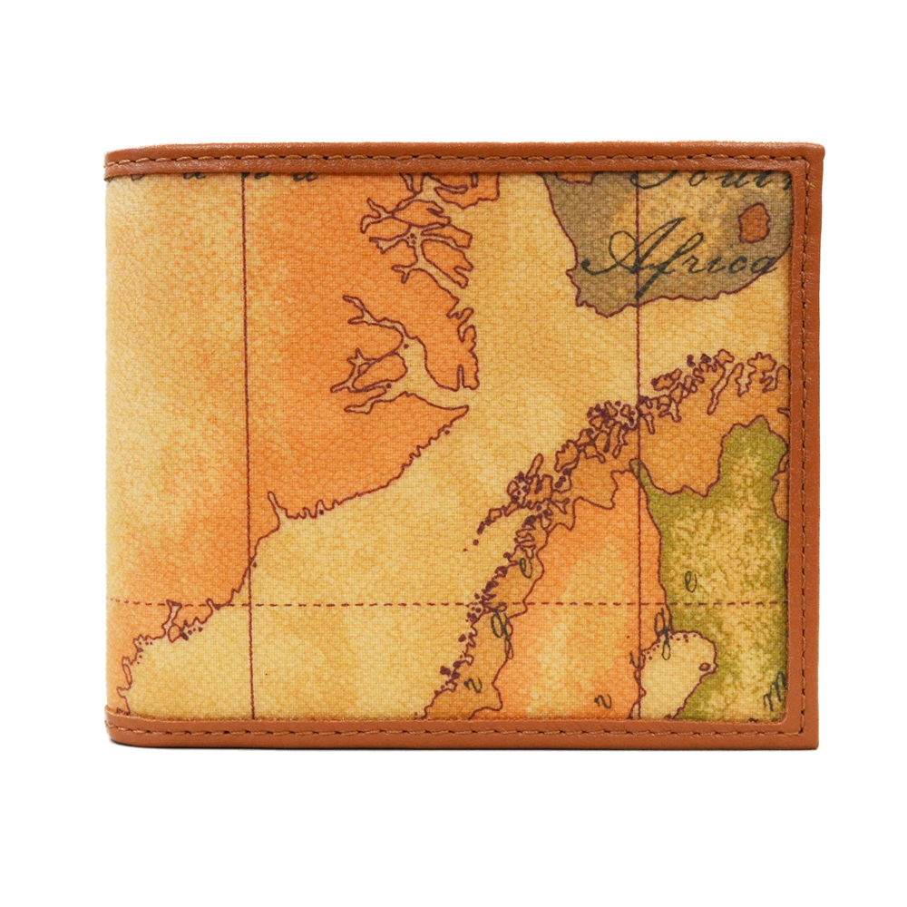 Alviero Martini 地圖包 經典6卡證件夾層時尚短夾