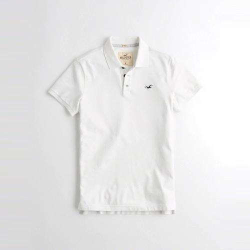 Hollister 海鷗 經典刺繡海鷗短袖Polo衫-白色 324-224-0638-100