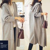 SCL<BR/>時尚針織寬版大衣外套