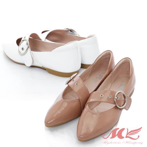 【MK】SM-英倫風金屬飾品單鞋(2色)