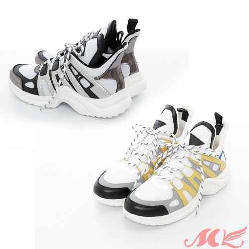 【MK】真皮系列-火紅時尚耐磨百搭運動休閒鞋(2色)