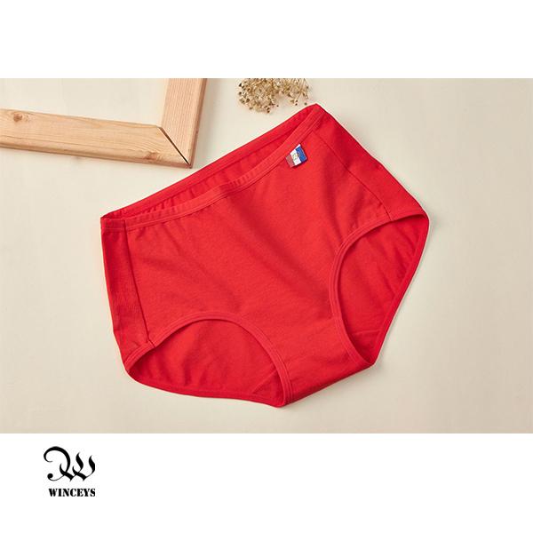 WINCEYS 優質棉輕盈繽紛美臀內褲-紅(3入)
