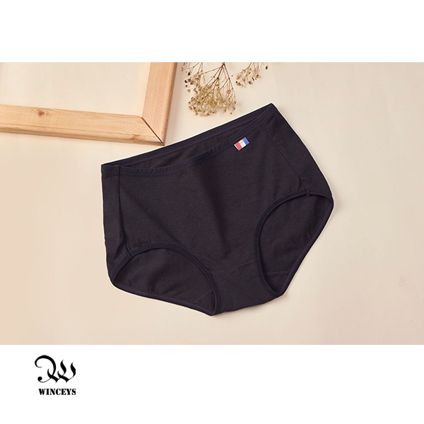 WINCEYS 優質棉輕盈繽紛美臀內褲-黑(3入)