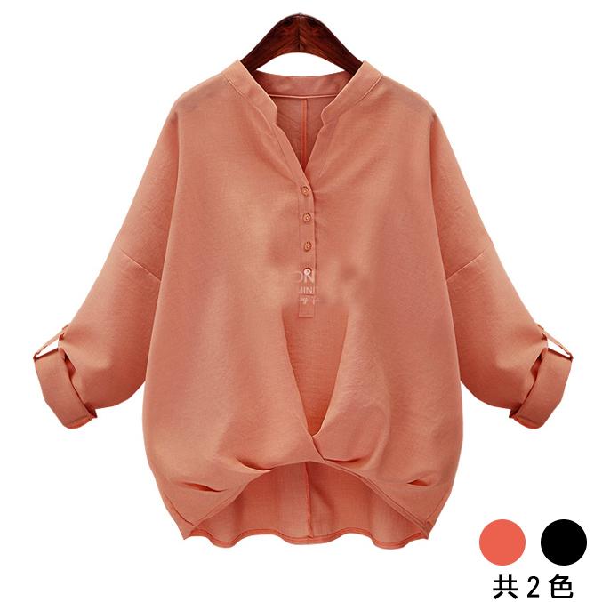 【歐風KEITH-WILL】L-XL 歐美風簡約V領上衣