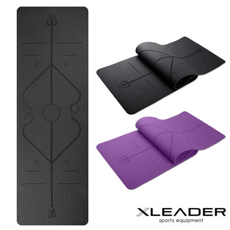 Leader X 環保TPE 雙面防滑瑜珈墊6mm