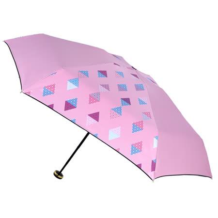 【2mm】100%遮光 采漾印花黑膠降溫五折手開傘