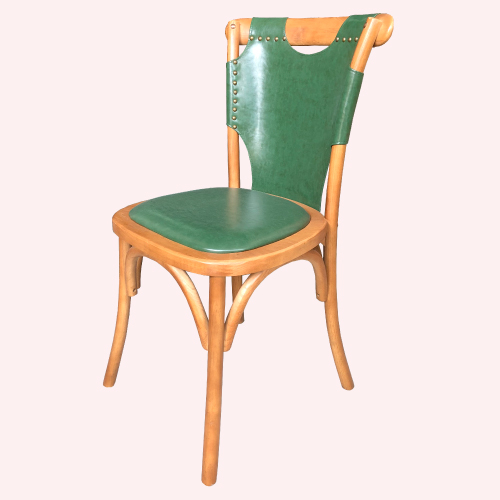 AS-波比山毛櫸綠皮餐椅-50x53x89cm