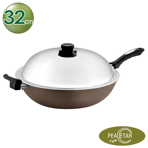【鼎王】必仕達 Peacetar 輕食主義二代深型料理炒鍋(32cm)