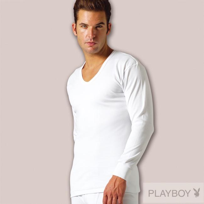 PLAY BOY 4件組台灣製100%時尚純棉毛U領長袖衫