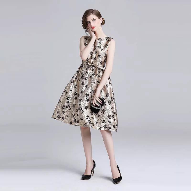 Olivia奧莉精品 高貴華麗無袖小禮服洋裝 M~2XL 洋裝 連身裙 禮服 伴娘服 媽媽裝