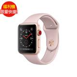 福利品 Apple Watch Series 3 GPS+行動網路 42mm 太空灰鋁/黑運動 (九成新)