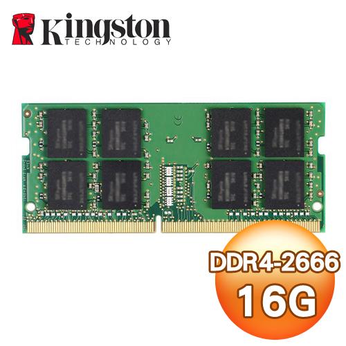 Kingston 金士頓 DDR4 2666 16G 筆記型記憶體