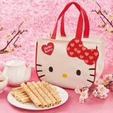 2019春節【HELLO KITTY】芝麻蛋捲禮盒贈HELLO KITTY手提袋