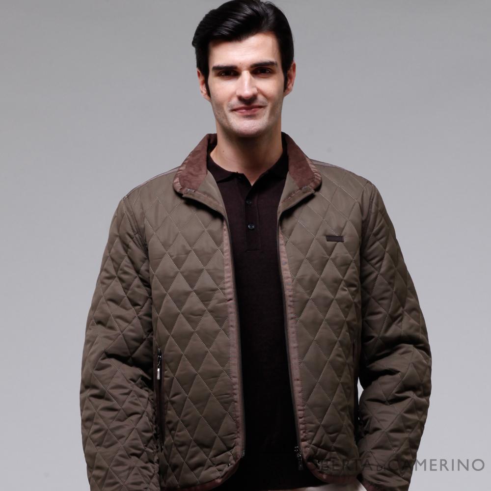 ROBERTA諾貝達 時尚型男 內裡鋪棉 夾克外套  深綠