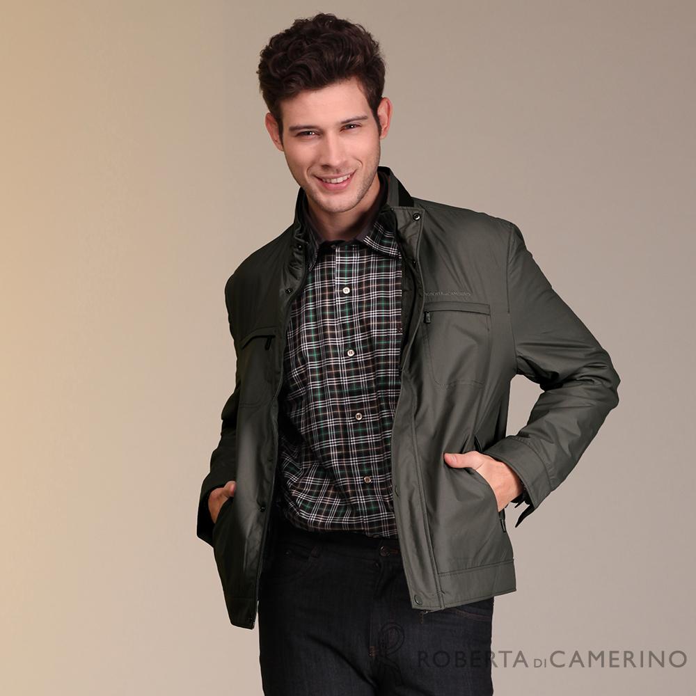 ROBERTA諾貝達 時尚百搭 內裡舖棉夾克外套 棕褐