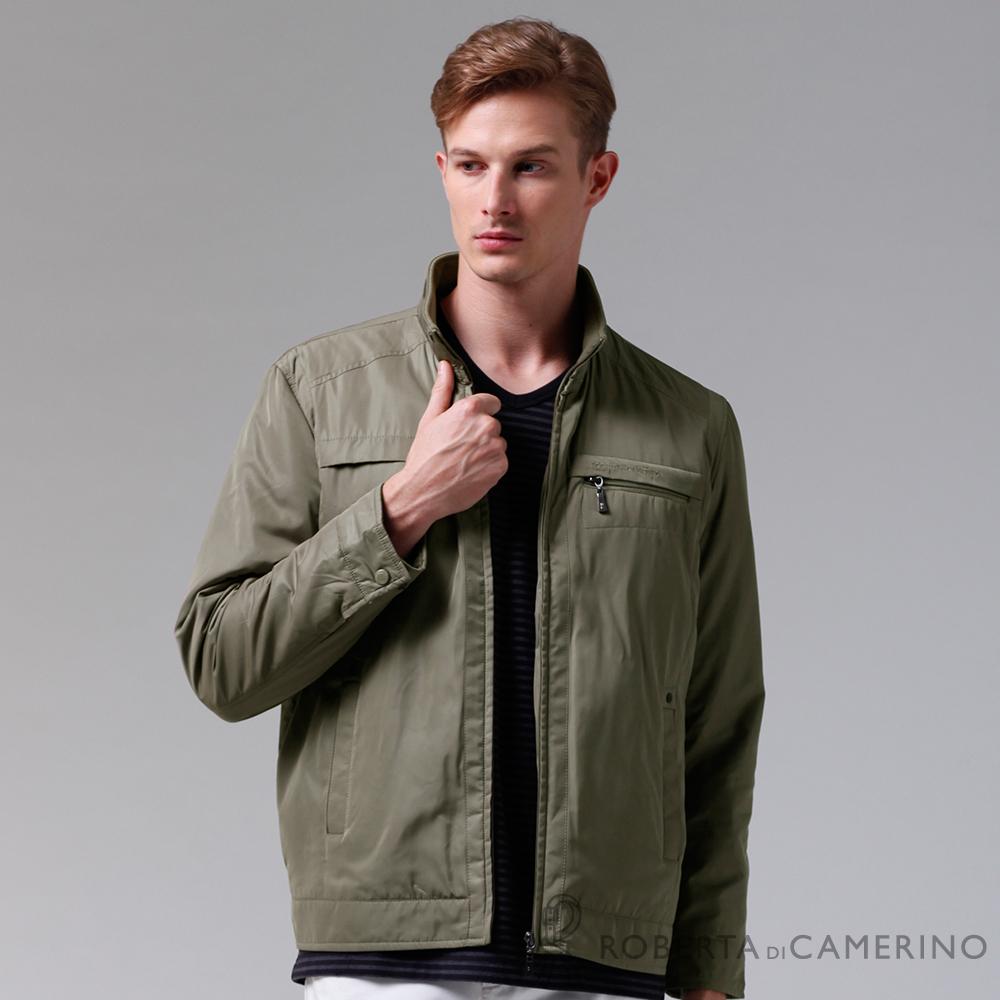 ROBERTA諾貝達 進口素材 嚴選穿搭 禦寒內裡舖棉夾克外套 褐色