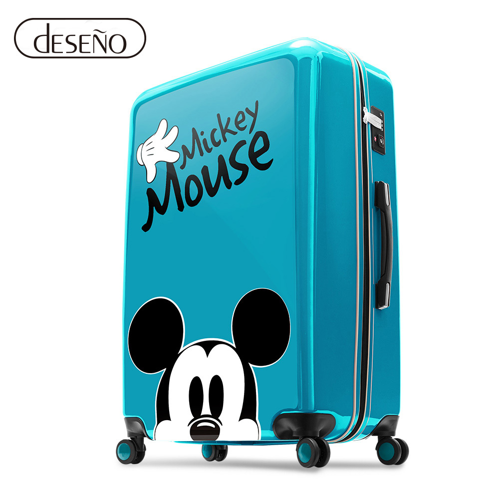 Disney 米奇奇幻之旅28吋PC鏡面拉鍊箱(任選)