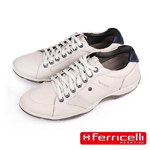 【ferricelli】AZERA經典牛皮減震休閒運動鞋  米白色(F42495-BE)