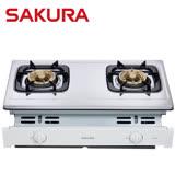 【促銷】SAKURA櫻花 兩口崁入式安全瓦斯爐 G6150AS/G-6150AS/G6150送安裝