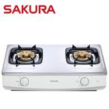 【促銷】SAKURA櫻花 兩口檯面式安全瓦斯爐 G615AS/G-615AS/G615 送安裝