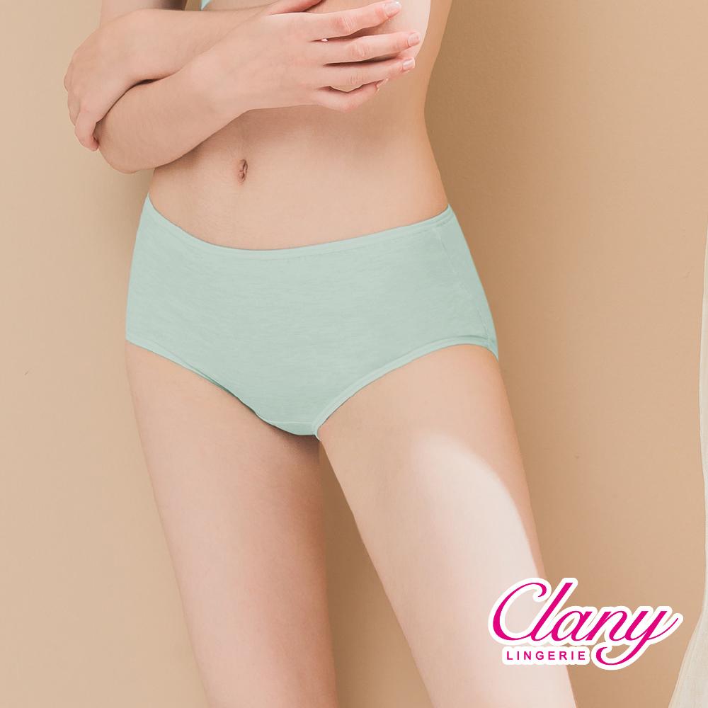 Clany 可蘭霓 棉質透氣馬卡龍親膚L-XL內褲 薄荷牛奶 2191-81