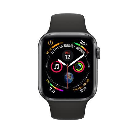 Apple Watch Series 4  GPS+行動網路 44 mm 黑色運動型錶帶