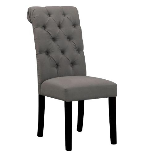 AS-羅絲胡桃深灰布餐椅-48x68x98cm