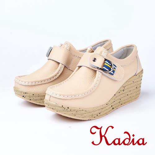 kadia.素面簡約牛皮休閒鞋(8511-30棕色)