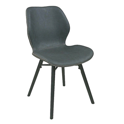 AS-萊安橡木腳灰色皮餐椅-47x56x83cm