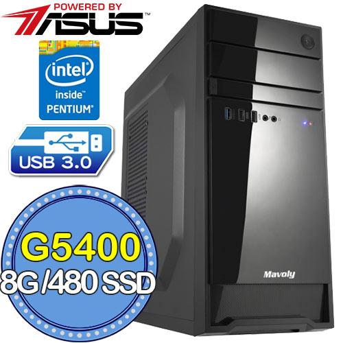 華碩H310平台【忠士執劍】G系列雙核 SSD 480G效能電腦