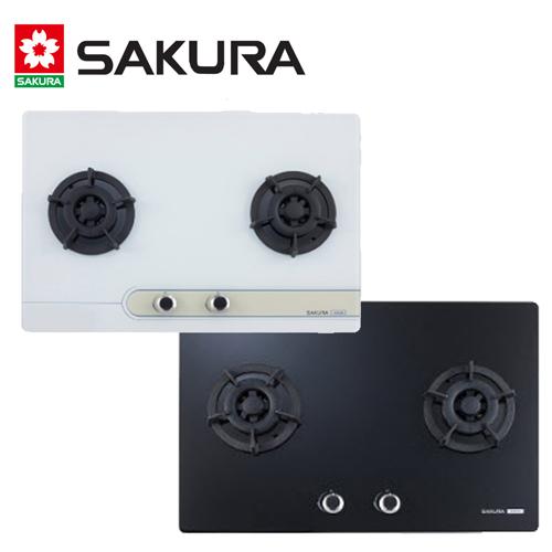 【促銷】櫻花 SAKURA-平整式強化玻璃檯面式二口瓦斯爐 G2623/G2623G/G-2623G 送安裝