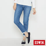 EDWIN MISS EDGE 涼感窄管牛仔褲-女-石洗藍