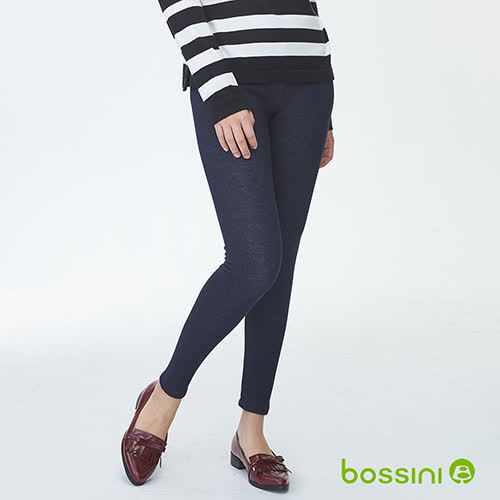 bossini女裝-牛仔刷毛貼身褲01深靛藍(品特)