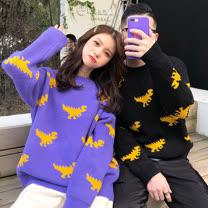 韓系女衫<BR/>趣味恐龍寬大碼系列毛衣
