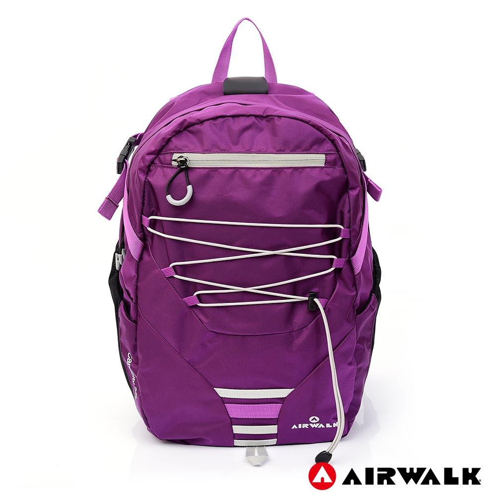 AIRWALK -自由圍繞休閒後背包-紫色