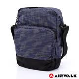 AIRWALK -輕量緹花休閒側背包-藍色