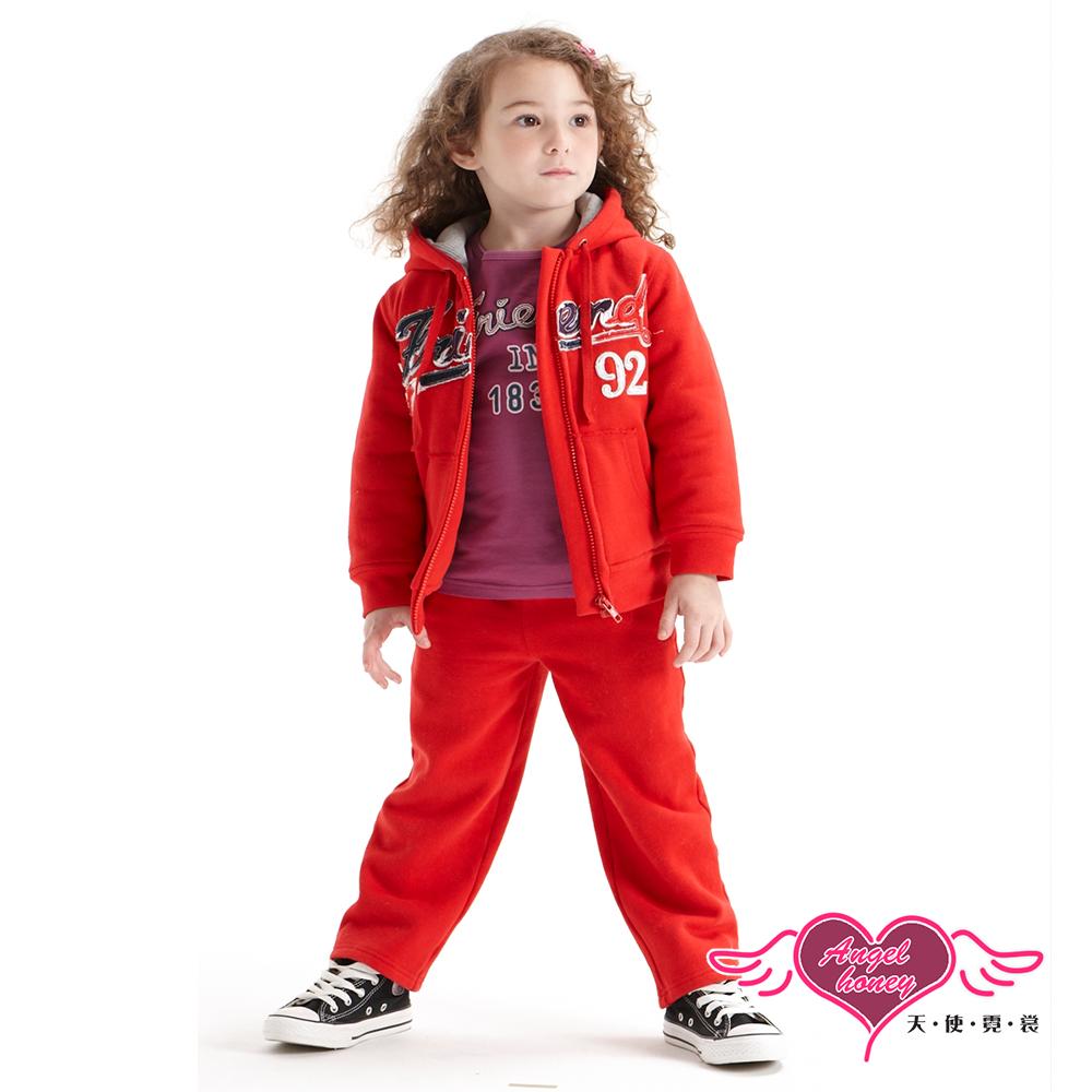 【天使霓裳】運動甜心 Friend92連帽外套長褲兩件組童裝套裝(紅)