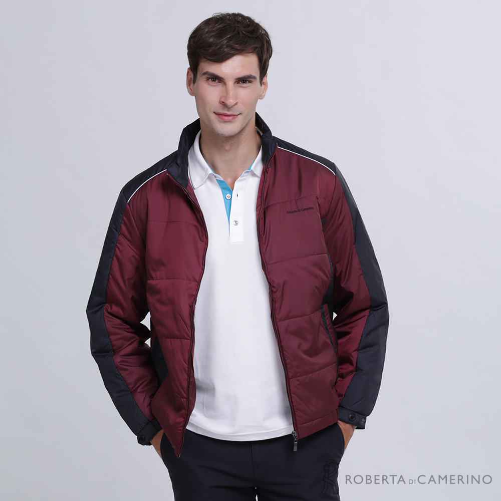 ROBERTA諾貝達 時尚型男 內裡舖棉夾克外套 暗紅