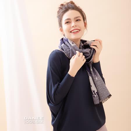 岱妮蠶絲純蠶絲保暖刷毛圍巾