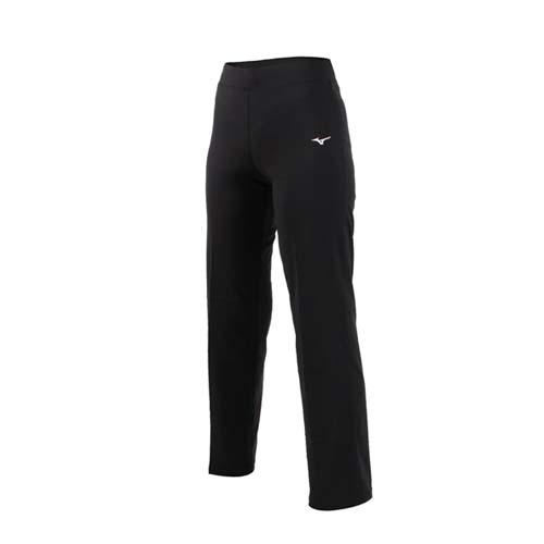 (女) MIZUNO 瑜珈長褲-韻律 訓練 有氧 運動長褲 美津濃 黑白