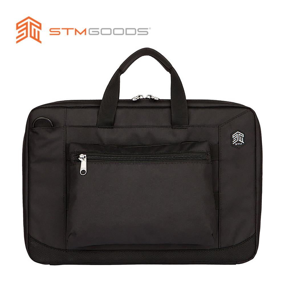 澳洲【STM】Ace Brief 速開即用防摔手提/側背兩用筆電公事包 (黑)