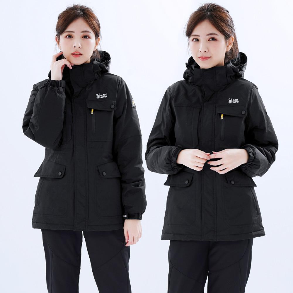 【遊遍天下】女款中長版顯瘦極暖防風防潑水90%羽絨外套GJ22010黑色
