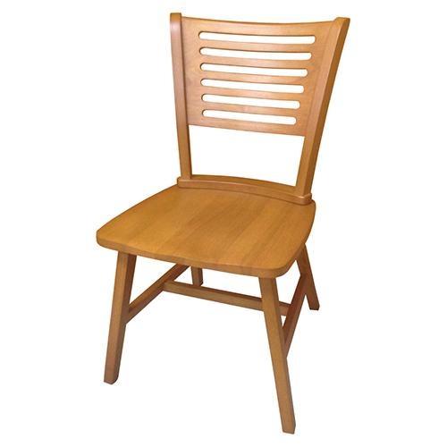 AS-Althea柚木色實木餐椅-50.5x49x84cm
